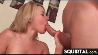 Blonde Slut cannot stop her squirting pussy