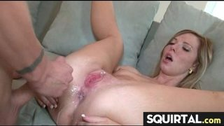 Sweet 18 Year Old Babe Squirts During Anal