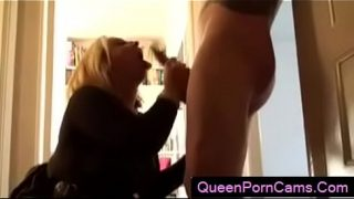 Blonde Milf Squirts Crazy for Stranger