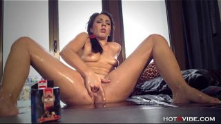 First Time Squirter Unable to Control Herself