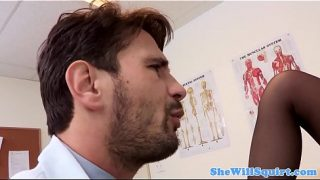 Horny Milf Squirting with her Doctor