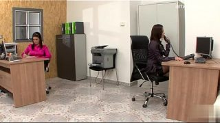 Naughty Girls in Office Make Out