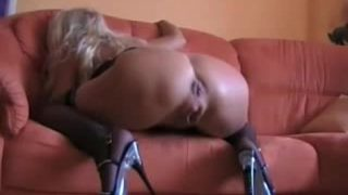 Mature Humping Milf Gets Anal And Squirting