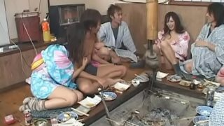 Japanese Orgy Party with Squirting Girls