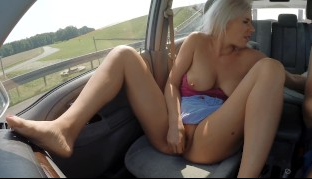 Blonde Milf Masturbating On Highway