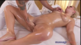 Czech Blonde Multiple Squirt On Massage Table