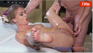 Beautiful Busty British Pussy Squirt In Massage Parlour